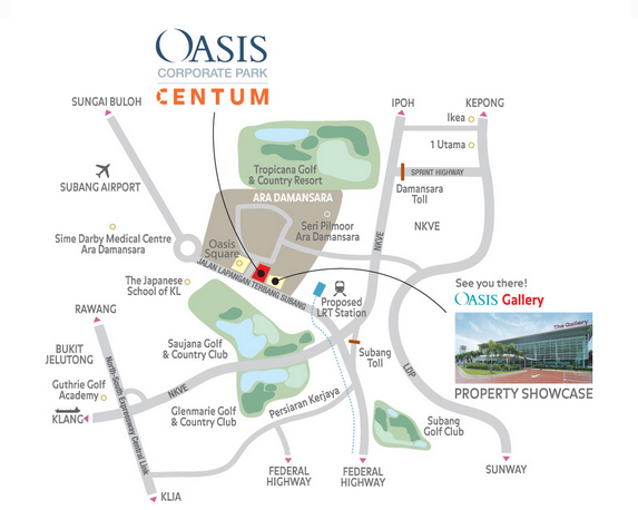 Oasis Corporate Park Map