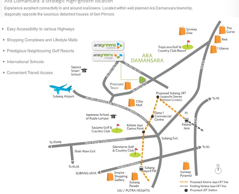 aragreens residence map
