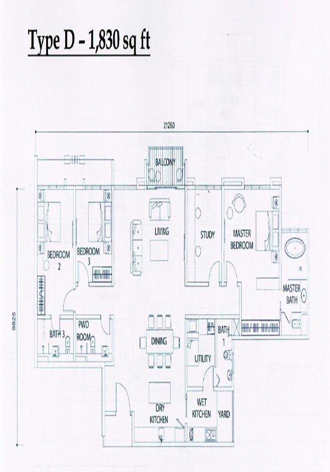 1830 sq ft