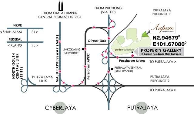 aspen-bungalow-cyberjaya-location