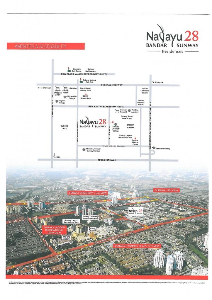 nadayu28-condominium-bandar-sunway-location