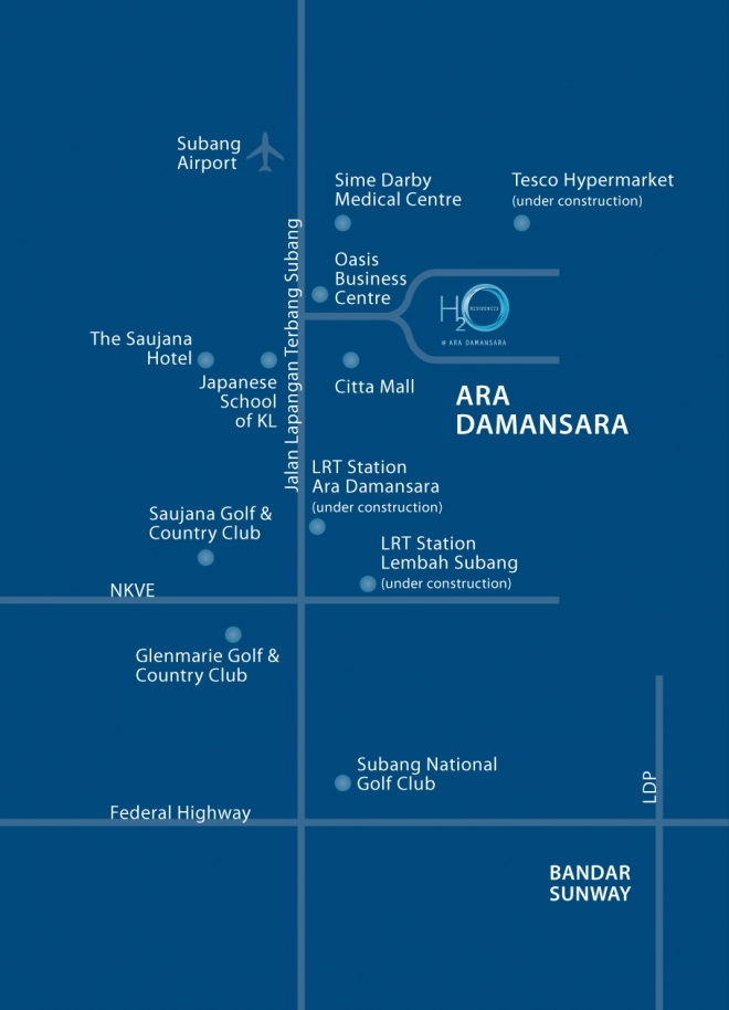 H2O Residence location ara damansara
