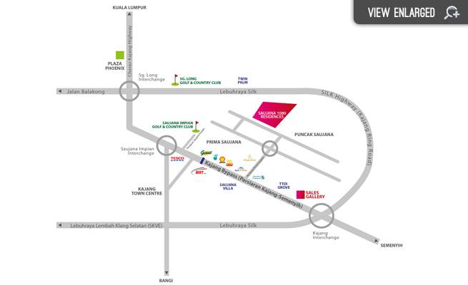 1080_Residence_Kajang_location_map