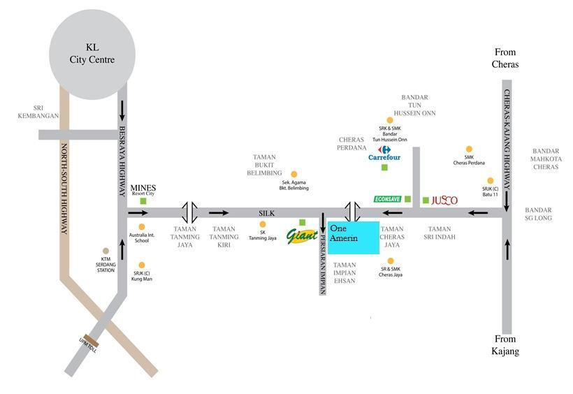 location amerin residence service apartment balakong