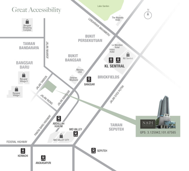 nadi_bangsar_service_residence_map