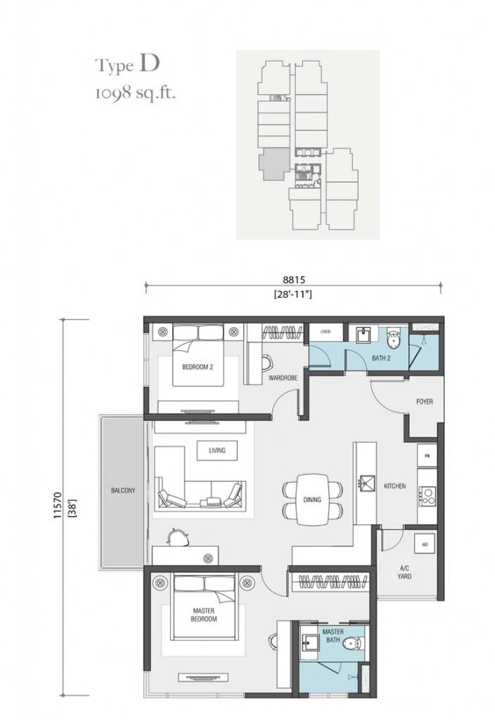 1098-square-feet-apartment-nadi-bangsar-serviced-residence