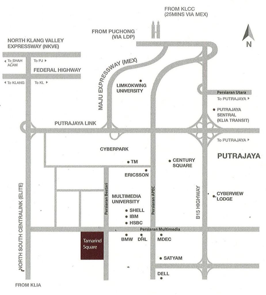 location-tamarind-suites-cyberjaya-sofo-apartment