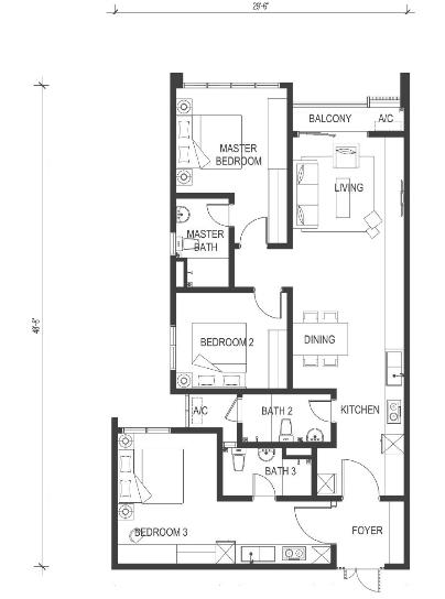 Type-D-1202-sqft-utropolis-serviced-apartment-Glenmarie