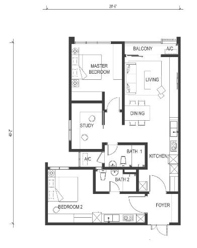 Type-E-1030-sqft-utropolis-serviced-apartment-Glenmarie-Shah-Alam