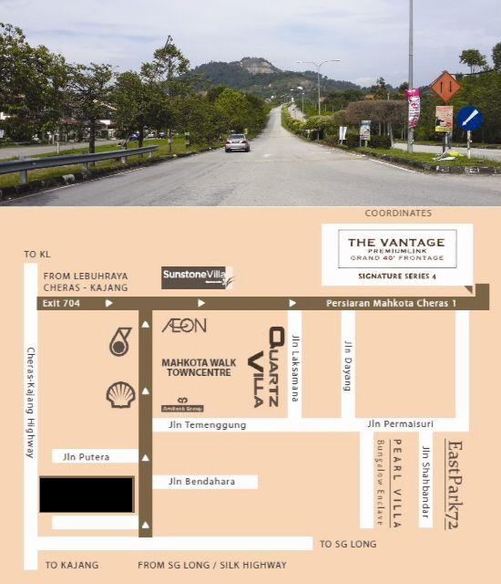 Location Map-The-Vantage-Link-House-Cheras-Bandar-Mahkota