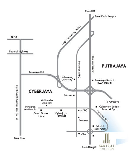 sawtelle-suites-condominium-cyberjaya-location-map
