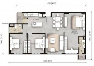 The-Resident-1260-sq-ft-condominium-Type-C