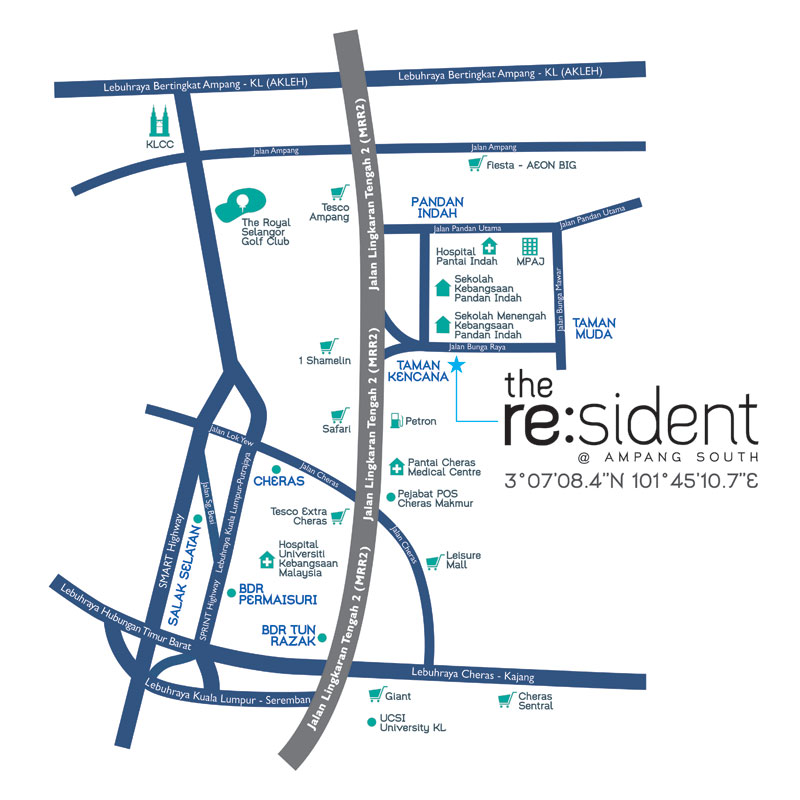 condominium-the-resident-ampang-south-location