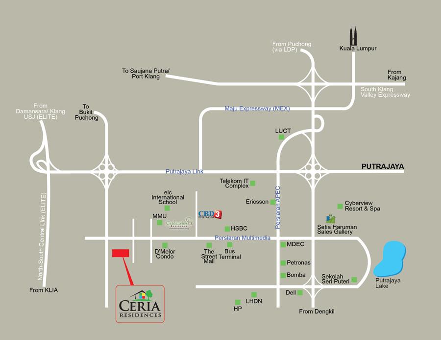 Ceria-Condominium-Cyberjaya-Location