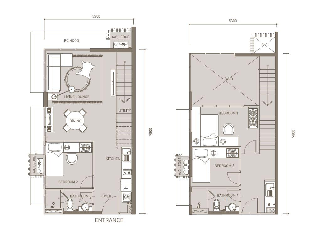 Cyberjaya-Eclipse-Residence-floor-plan-950-sqft-duplex
