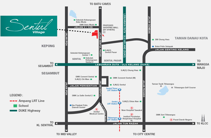 sentul-village-location-map