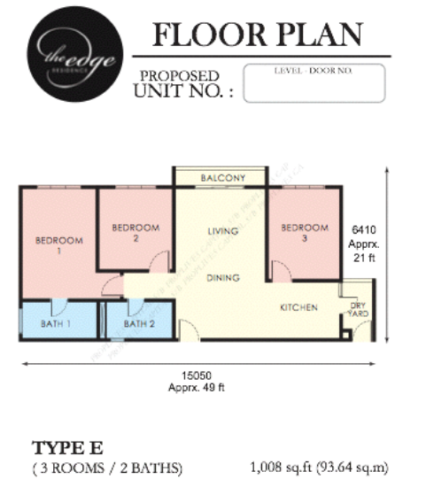 1,008-sqft-floor-plan-The Edge-apartment