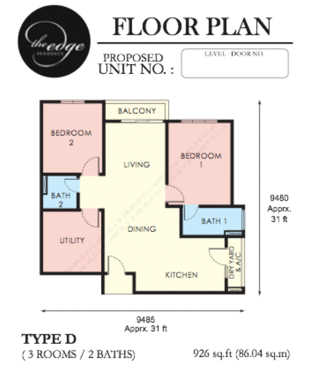 926-sqft-floor-plan-The Edge-apartment