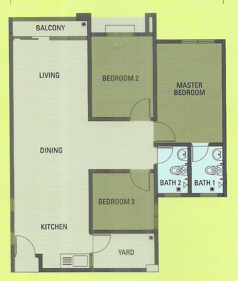 Sentrovue Puncak Alam Apartment 3 bedroom