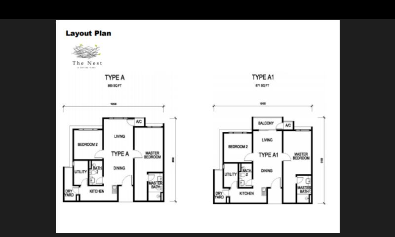 855 sq ft-Serviced-Apartment