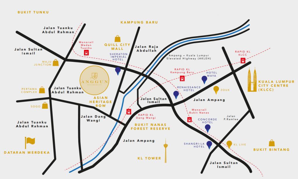 Anggun-Residences-location-map-Kuala Lumpur City Center