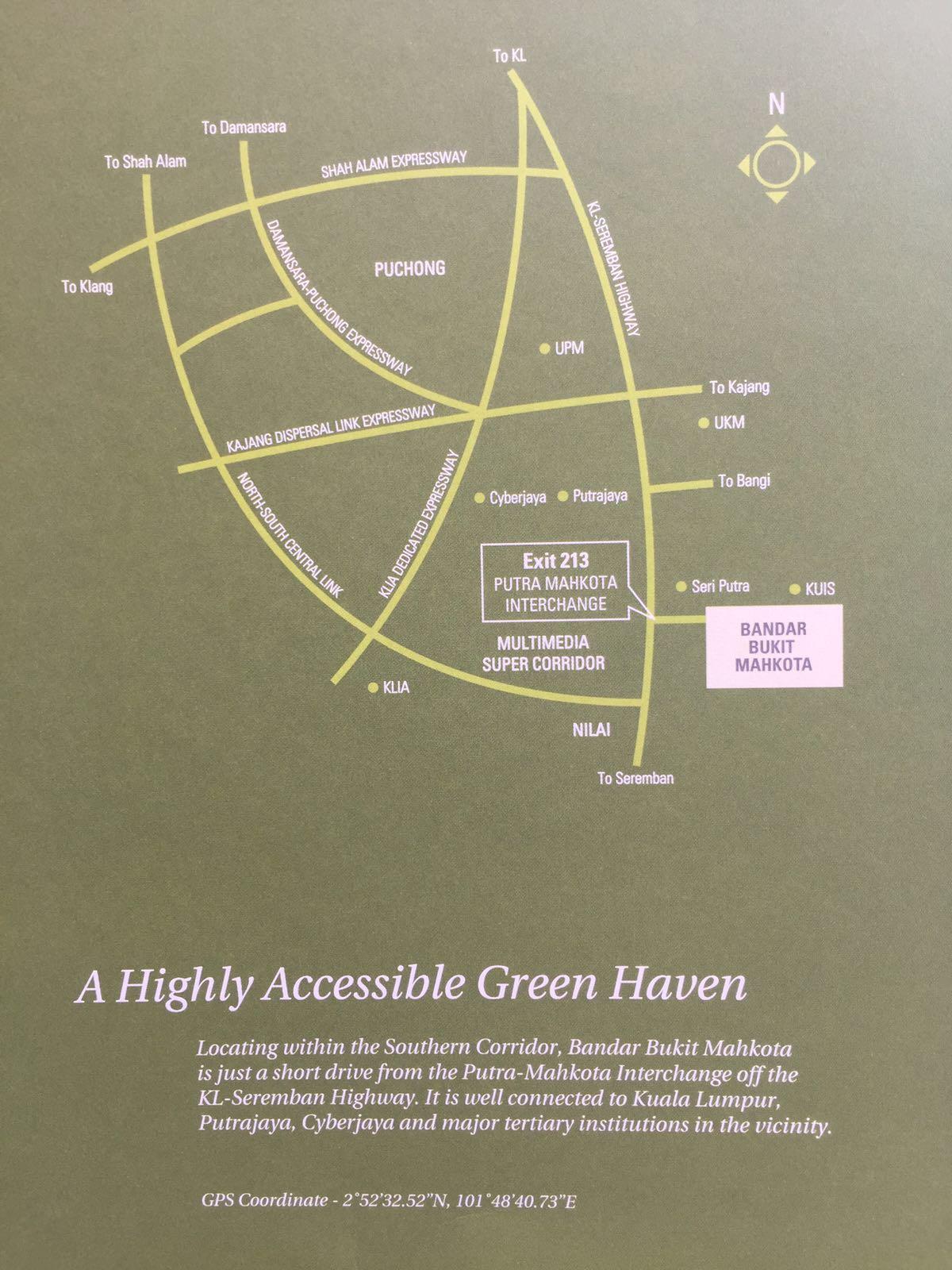 Crescent-Park-Townvilla-Bandar Bukit Mahkota-Map