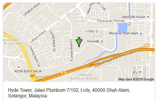 Hyde Tower-Shah Alam-location map
