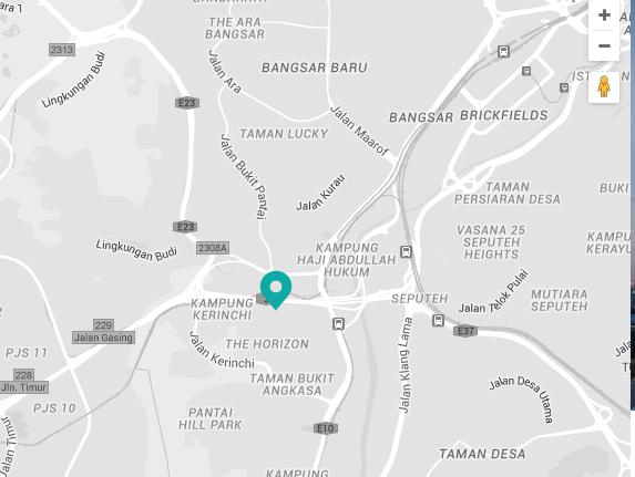 Novum bangsar South-Residence-Location map