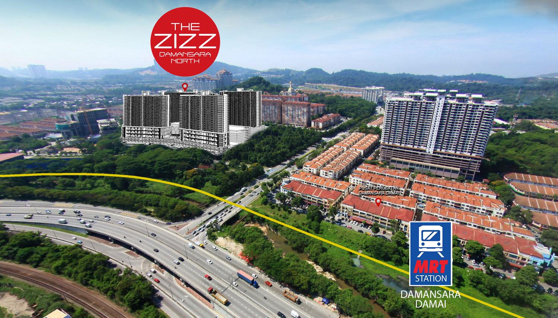 Serviced-apartment-Zizz-Damansara-Damai-MRT-station