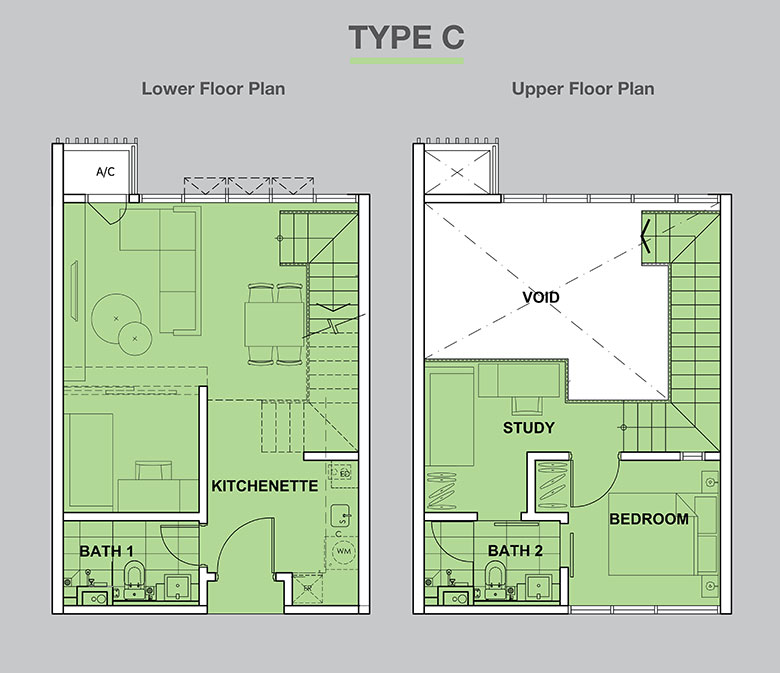 High Park-Suites-Duplex-743 sq.ft.-Type C