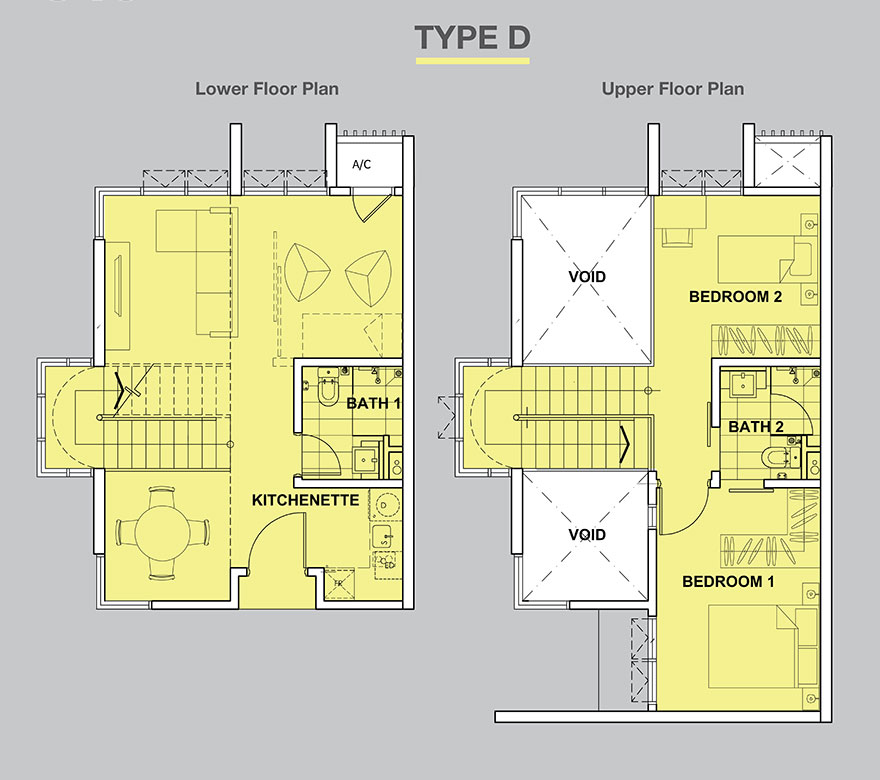 High Park-Suites-Duplex-840 sq.ft.-Type D