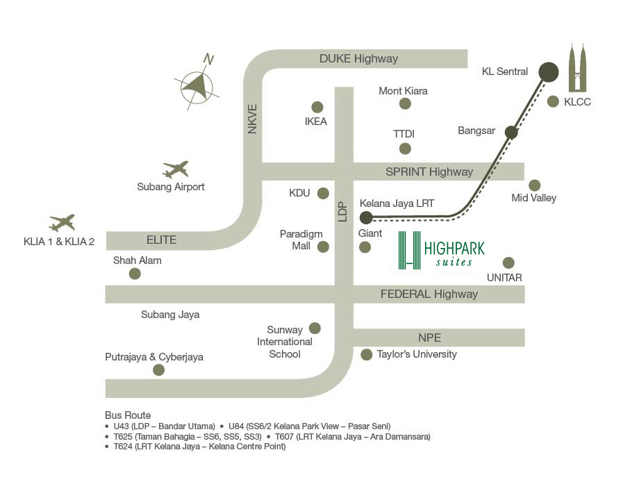 Map-High Park-Suites-Kelana Jaya-PJ