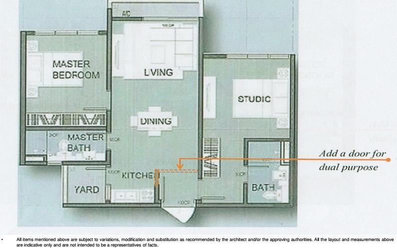 Amani-705 sq.ft-Serviced-Apartment