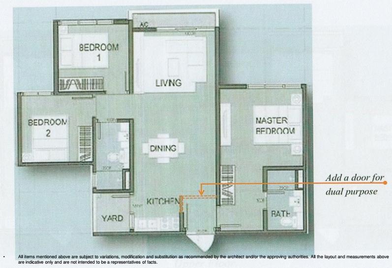 Amani-850 sq.ft-Serviced-Apartment