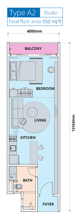 Biji-Living-Floor-Plan-550 sq.ft.-studio