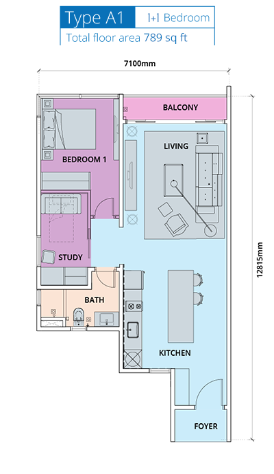 Biji-Living-Floor-Plan-789 sq.ft.-1 bedroom