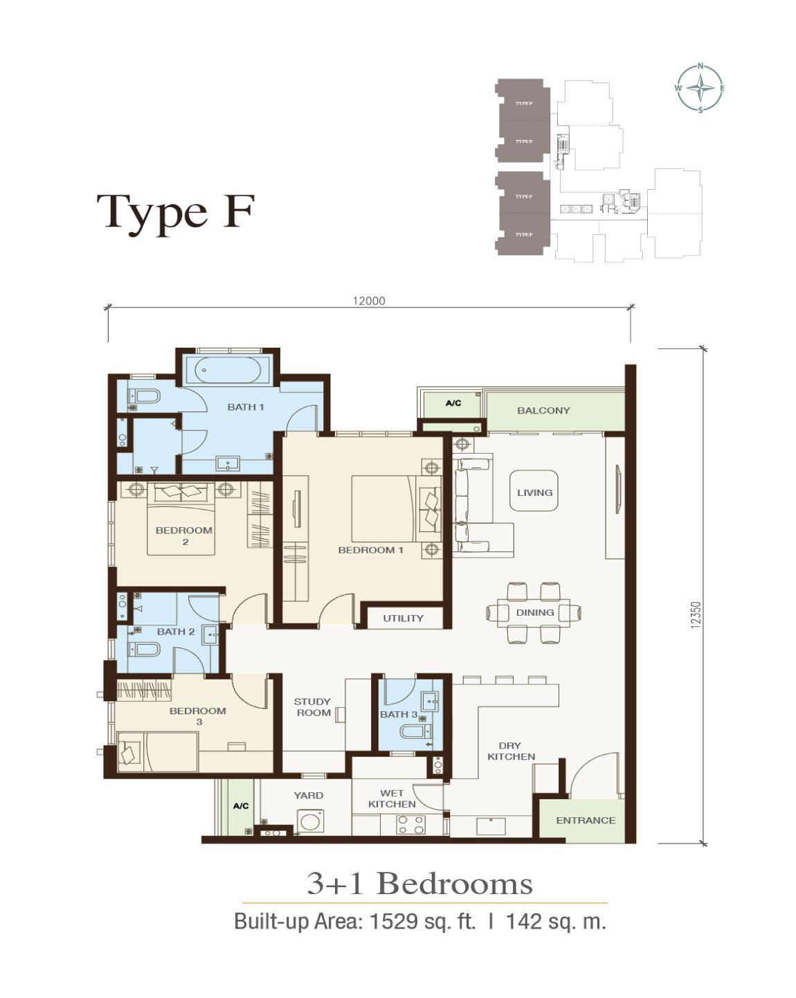 Irama-Wangsa-Condominium-Type E-1,529 sq.ft.-3 bedrooms