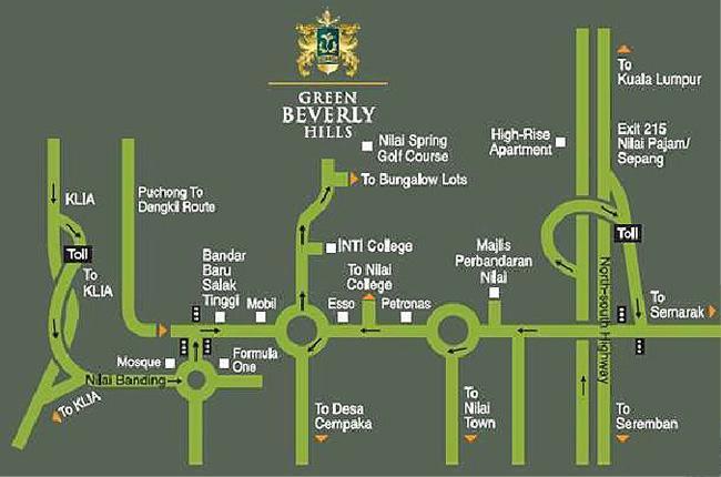 Location-Map-Green-Bevelry Hills-Nilai- Negeri Sembilan