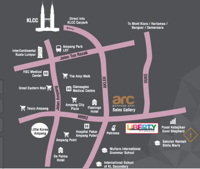 liberty-arc-ampang-location-map
