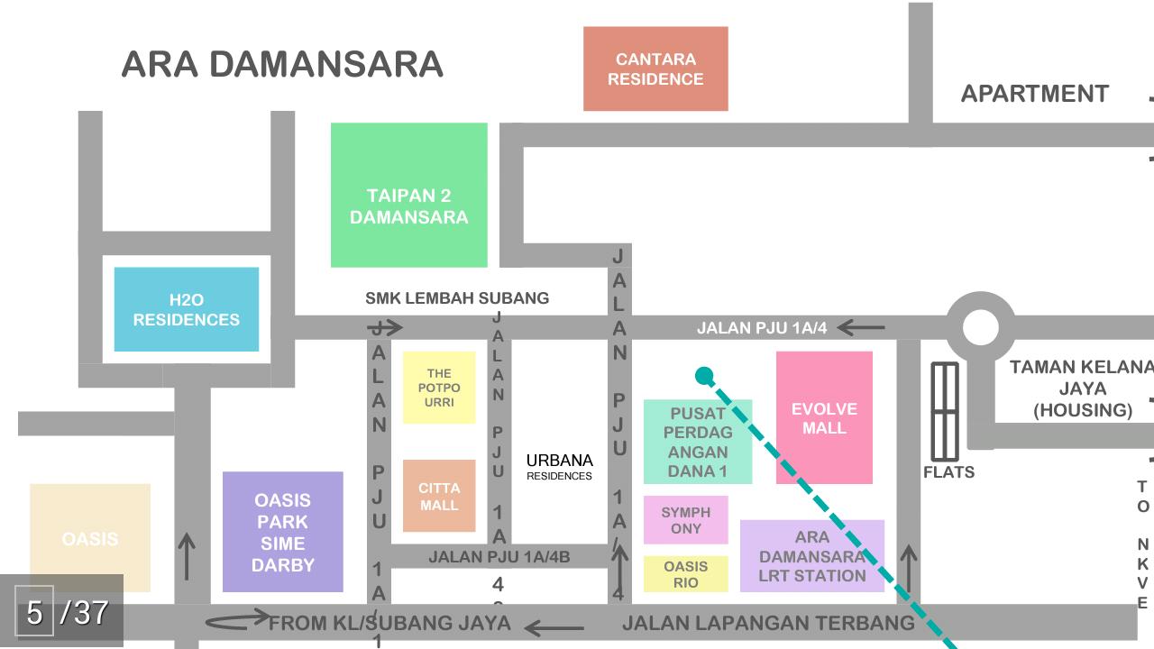 location-map-aratre-residences-ara-damansara