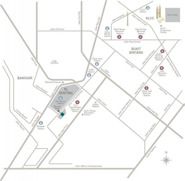 location-map-sentral-suites-kl-sentral